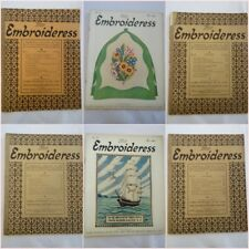 More details for vintage embroidery magazine 1920s the embroideress sewing instruction pattern