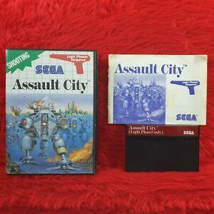 Master System ASSAULT CITY *Rare Light Phaser Edition* PAL English REGION FREE