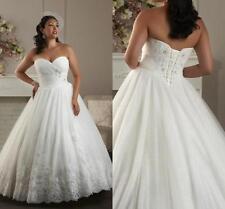 New Plus Size White Ivory Wedding Dress Bridal Gowns Custom 16 18 20 22 24 26 28