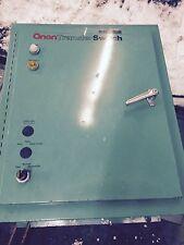 onan generator transfer switch 120 - 208 volts 100 amps 3 phase 60 hertz