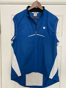 Pearl Izumi Men's Cycling Wind Vest, Large, Blue