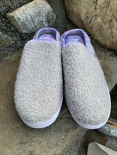 New Dear Foams Fresh Feel Slippers Size  Large 9/10 Gray ECU Boho Retro Casual
