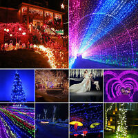 Xmas LED Net Mesh Fairy String Lights Christmas Outdoor Wedding Party Home Decor