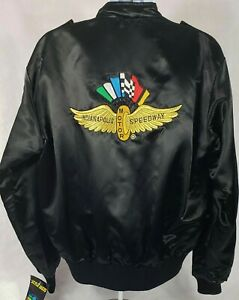 Vintage 1980s Style Auto Indianapolis Motor Speedway Jacket w/Orig.tags, Mens XL