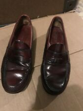 LEATHER GH BASS & Co WEEJUNS MENS Red/BROWN PENNY LOAFER SLIP ON SHOE SIZE 10