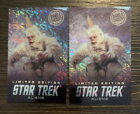 TWO (2) Dave and Busters Star Trek Aliens Rare Limited Edition Mugato Foil Cards