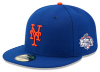 Official 2015 MLB World Series New York Mets New Era 59FIFTY Fitted Hat Sz 7