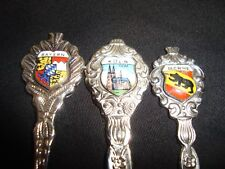 Bayern/Berne/Koln Germany Stainless/Silverplated Collector's Lot of 3 Spoons