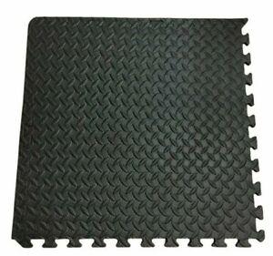 24 SqFt Interlocking Puzzle Rubber Foam Gym Fitness Exercise Tile Floor Mat NEW