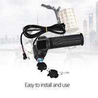 E-bike 12-72V Half Twist Gas Throttle Handlebar Grips LED Display Meter Scooter