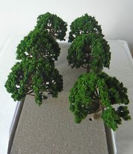 6 x DARK GREEN MODEL TREES 8 cm SCENERY FOR MODEL RAILWAY OO HO SCALE #B7