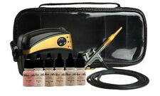 Glam Air Airbrush Makeup Machine System with 5 Dark Sattin Shades of Foundation