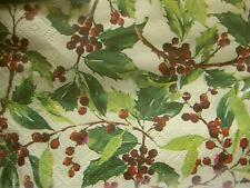 20 x GREEN CHRISTMAS HOLIDAY SERVIETTES NAPKINS HOLLY BERRY 20 x 3ply XMAS NEW Y