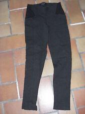 pantalon jeggings Cache-Cache 34 gris foncé bi-matière
