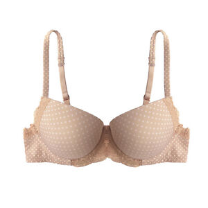 Women's Push Up Bra Underwear Lingerie Underwire Lightly Padded Dot Printing