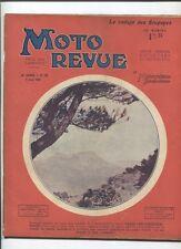 Moto Revue N°387  ; 9 aôut  1930  : Paris-Les Pyrénées-Paris / rodage soupapes