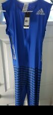 Adidas New large ADIZERO SPRINT SUIT Race Run Speedsuit Mens Blue Brand org $220