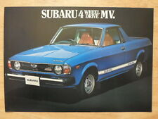 SUBARU 4WD MV PICK UP 1977 UK inchiostri SALES BROCHURE volantino