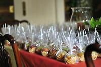 """Clear Gusset Gift Candy Favor #4 Bag  4x2.75x9/"""" 100"""