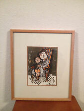 Graciela Rodo Boulanger Lithograph Print Mother and Child w/ COA on Back