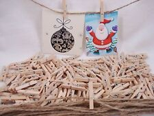 100 X Small Wooden Pegs Natural 25mm Craft Baby Shower Clothespin Postage