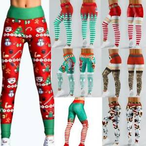 Christmas Xmas Womens Yoga Gym Sport Leggings Fitness Pant Workout Trousers Gift