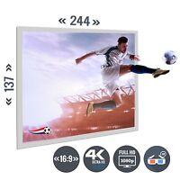 Beamer Leinwand Rahmenleinwand Heimkino 113 Zoll 250 x 141 / 16:9 Full HD 3D 4K