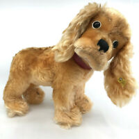 Steiff Cockie Cocker Spaniel Dog Mohair Plush 29cm 11in ID Button Tag Squeaker