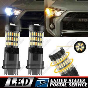 LED Front Switchback Turn Signal Light Bulb For 2003-06 Chevrolet Silverado 1500