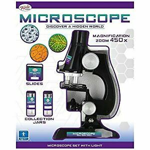 Toyrific Children's Kids Junior Microscope Science Lab Set with Light Toy School