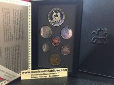 CANADA 1988 PRESTIGE SET 1 SILVER DOLLAR SAINT MAURICE IRONWORKS 7 Coin ESTUCHE