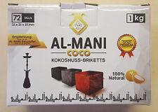 Al-Mani Gold Premium  Kokoskohle Briketts Naturkohle 1 kg
