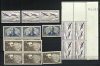 FRANCE The Best Lot 17 stamps - MNH - MH - Coin Date - Nice