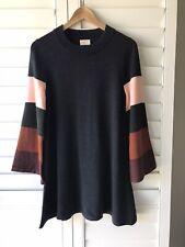 Gorman Size 8, Striped Knit Jumper Dress 100% Merino Wool