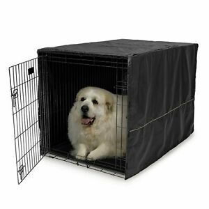 "Folding Cover 48"" Extra Large Giant Breed Dog Crate Kennel XL Pet Wire Cage Huge"