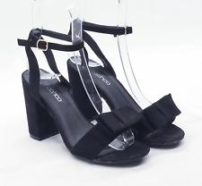 Boohoo Womens UK Size 6 Black Suede Heels