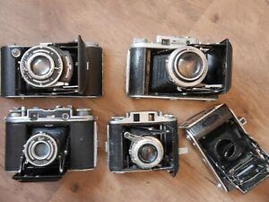Joblot Ensign Folding Cameras.. Autorange 16-20, 820 Special, Commando, 220...