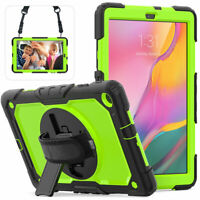 For Samsung Galaxy Tab A 10.1 SM-T510 360 Rotating Tablet Case Strap Stand Cover