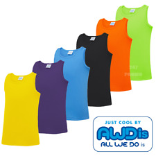AWDis CHILDREN'S VEST TANK TOP PE SELEEVELESS SPORT WICKING SUMMER BOYS GIRLS