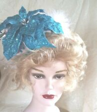 Turquoise Silver and White Headband Costume Christmas