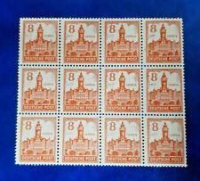 Germany Stamps SBZ Soviet Zone 12x 8 Pfennig 1946 Block Mi. Nr. 160 (16620)