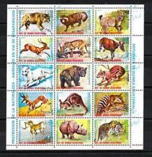 Animaux Faune sauvage Guinée Equatoriale (93)série complète 15 timbres oblitérés