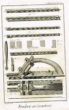 Diderot Enclyclopedie  FONDERIE EN CARACTERES  (WOOD PLANE) Fine Engraving 1751