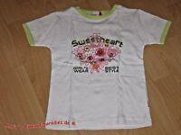 Yigga T-Shirt Mädchen grün/weiß mit Applikation Gr. 146