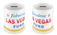 LAS VEGAS Fund Money Box - USA Piggy bank Gift Idea Holiday Savings Nevada #35