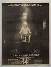 The Michael Schenker Group 1980 Poster Ad Debut Album
