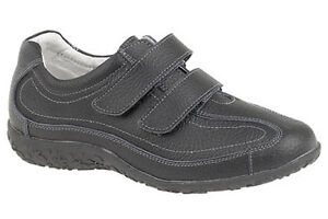 Womans Ladies Extra Wide Fitting Leather EEE Leisure Trainers Shoes 3 - 9