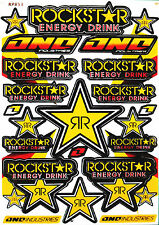 Rockstar Energy Sticker Decal Sheet MOTO-GP Bike BMX MTB ATV CAR Extreme Sports