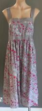 As New PIPER WOMAN Grey, White & Pink Sleeveless Empire Waist Dress Size 24