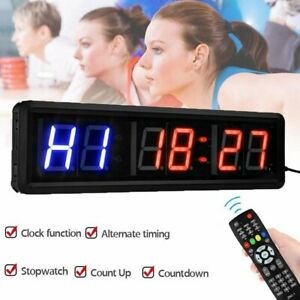 Gym Sport Crossfit Interval Timer Stopwatch Wall Clock For Fitness With RemoteUK